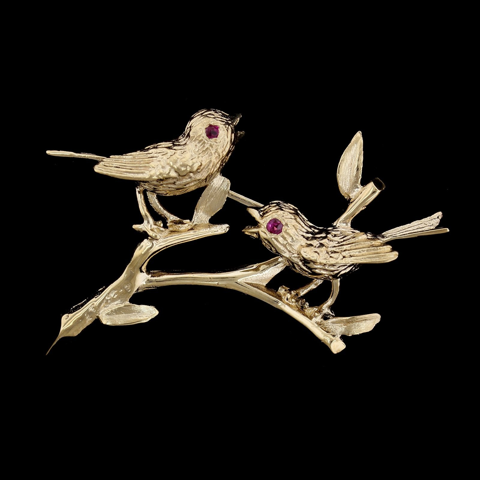 14K Yellow Gold Bird Pin