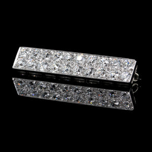 Vintage Platinum Estate Diamond Bar Pin