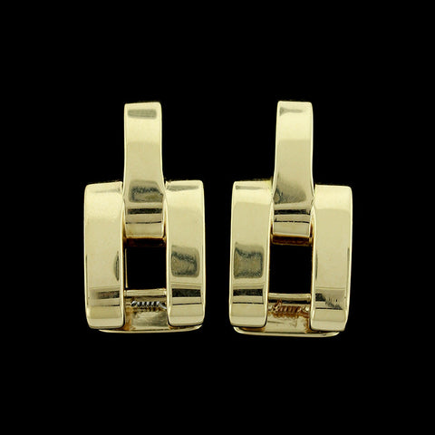 Retro Cartier 14K Yellow Gold Pair of Clips