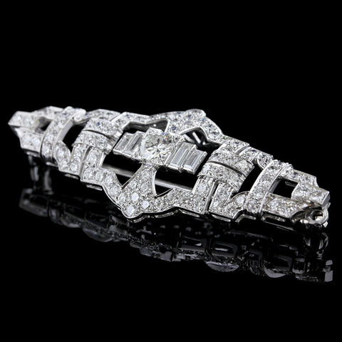Vintage Platinum Diamond Pin