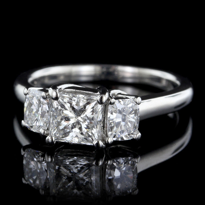 Platinum Diamond Three Stone Engagement Ring