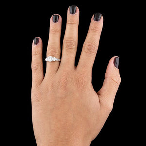 14K White Gold Estate Diamond Engagement Ring
