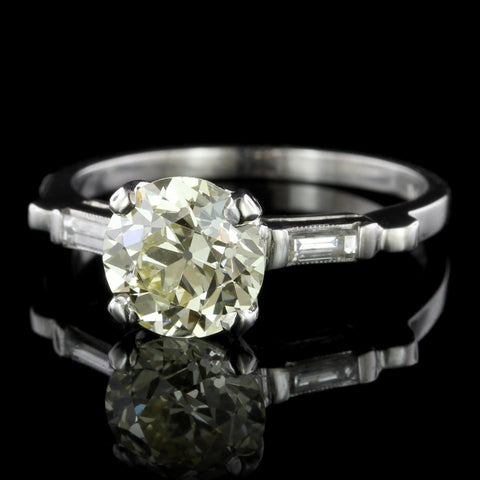 Vintage Platinum Estate Diamond Engagement Ring