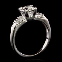 14K White Gold Diamond Solitaire Engagement Ring