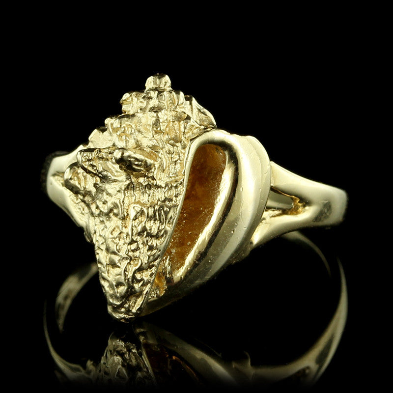 14K Yellow Gold Conch Shell Ring