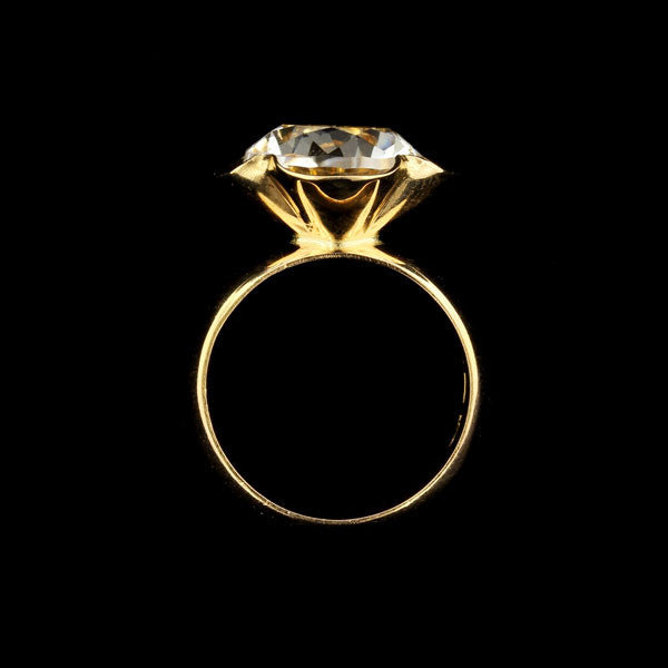 Alton 18K Yellow Gold Rock Crystal Ring, Sweden