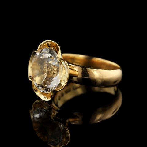 Alton 18K Yellow Gold and Rock Crystal Ring, Sweden