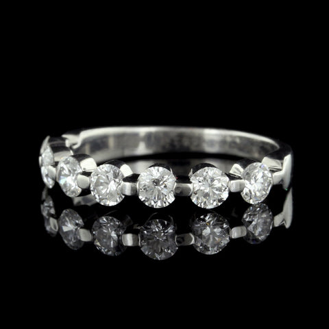 Memoire Platinum Seven Stone Diamond Band