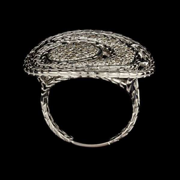 John Hardy Sterling Silver Diamond 'Langit' Ring