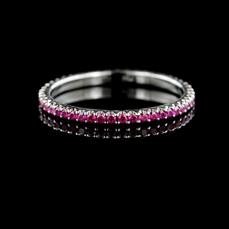 18K White Gold and Ruby Eternity Band