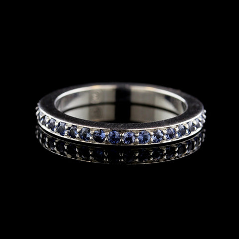 Movado 18K White Gold Sapphire Eternity Band