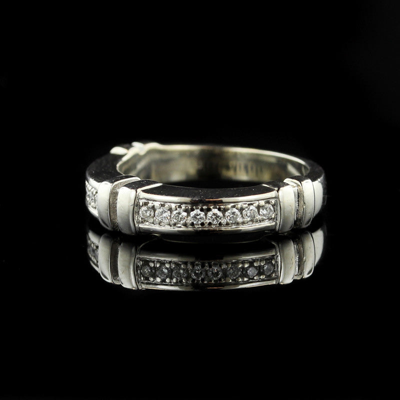 DiModolo 18K White Gold Diamond Band