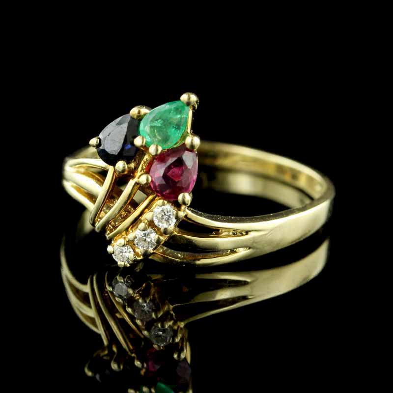 14K Yellow Gold Gem-Set Ring