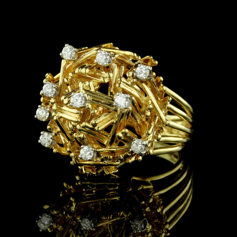 Dankner 18K Yellow Gold and Diamond Ring