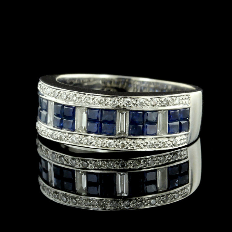 Le Vian 18K White Gold Sapphire and Diamond Ring