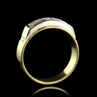 18K Two-Tone Gold Diamond Band