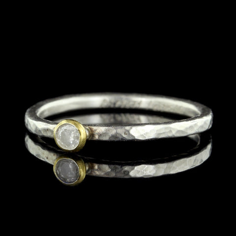 Gurhan Sterling Silver and 24K Yellow Gold Stacking Ring