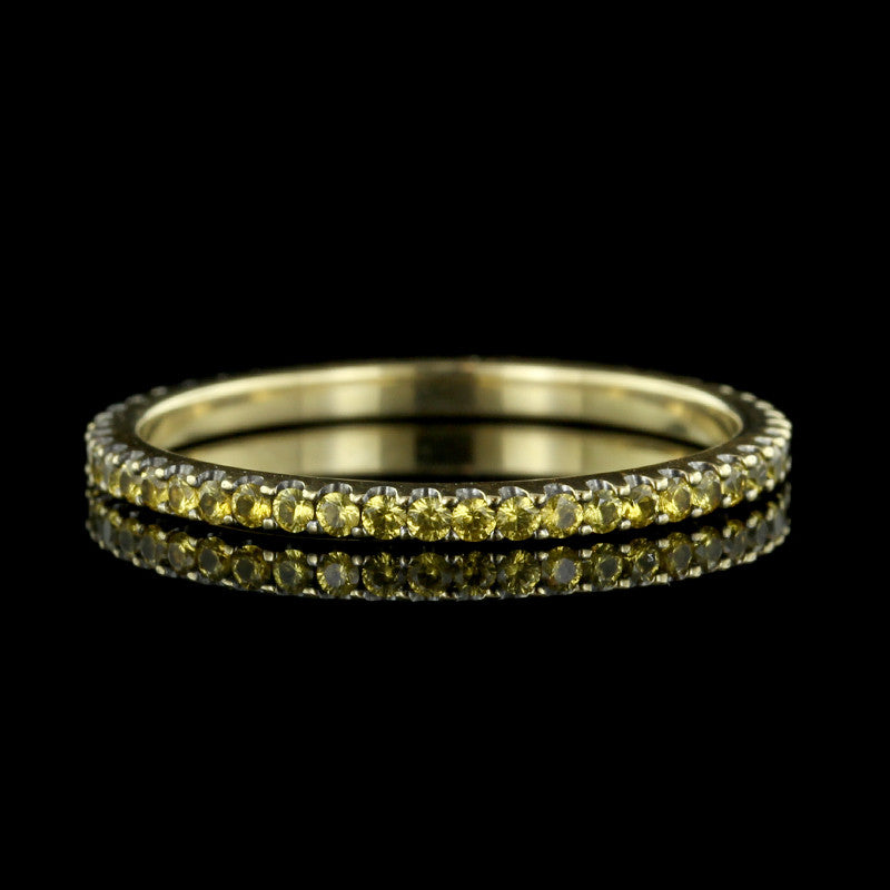 Armadani 18K Yellow Gold Yellow Sapphire Eternity Band
