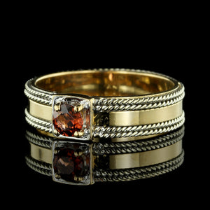 22K Yellow Gold Garnet Ring