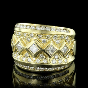 14K Yellow Gold Diamond Band