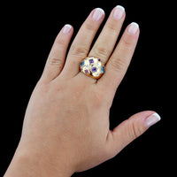 14K Yellow Gold Gem-Set and Diamond Ring