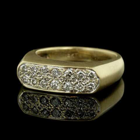 14K Yellow Gold and Diamond Ring