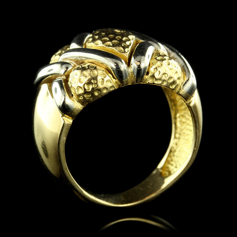 18K Two-tone Gold Ring