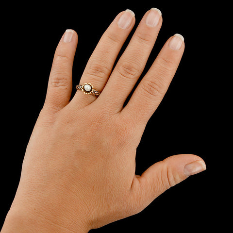 14K Yellow Gold Freshwater Pearl Ring