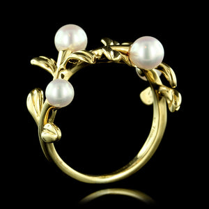Mikimoto 18K Yellow Gold Pearl Ring