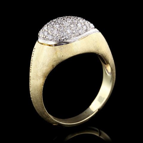 Marco Bicego 18K Yellow Gold Diamond Confetti Isola Ring