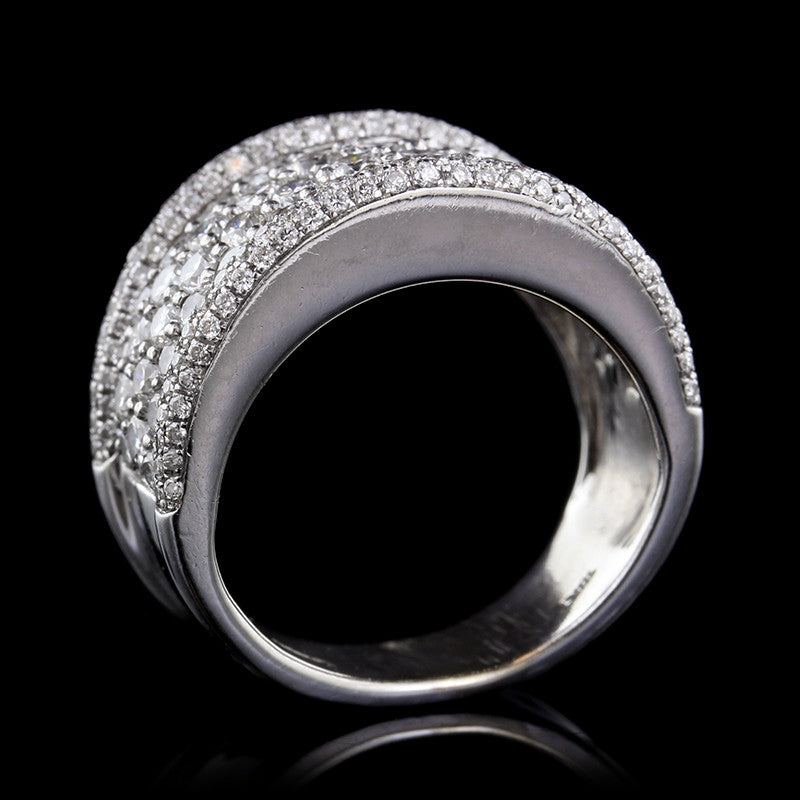 Odelia 18K White Gold Diamond Ring