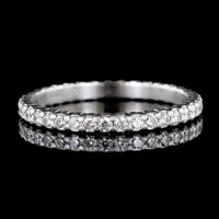 Memoire Platinum Diamond Petite Prong Eternity Band