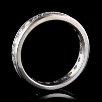 14K White Gold Estate Diamond Eternity Band