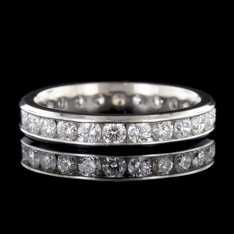 14K White Gold Diamond Eternity Band
