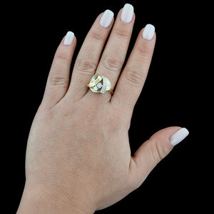 14K Yellow Gold Diamond Ring