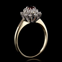 14K Two-Tone Gold Estate Ruby and Diamond Ring