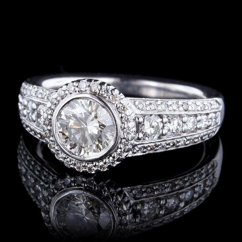 Ritani 14K White Gold Diamond Engagement Ring