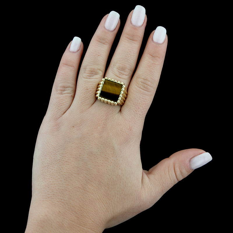 14K Yellow Gold Tiger's Eye Ring