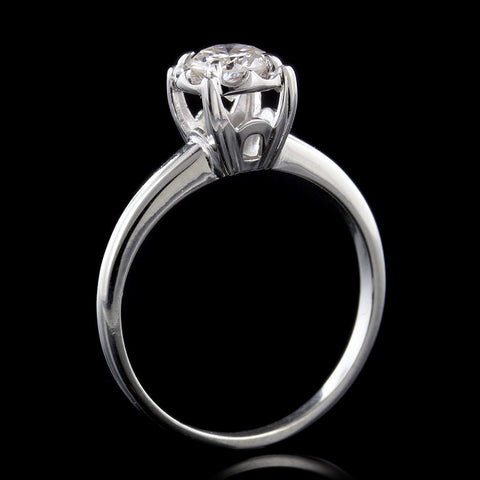 14K White Gold Estate Diamond Solitaire Ring