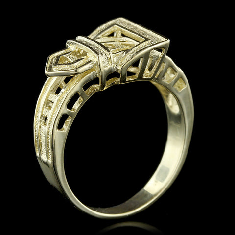 18K Yellow Gold Buckle Ring
