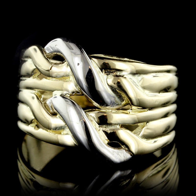 18K Two-tone Double Knot Ring