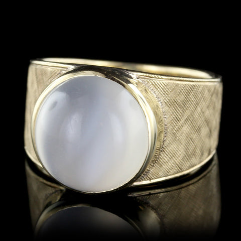 14K Yellow Gold Moonstone Ring