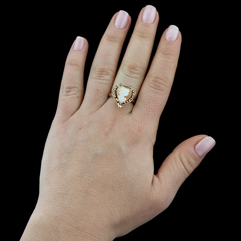14K Yellow Gold Cameo Ring