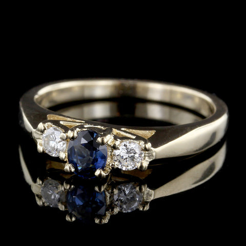 J.B. Star Platinum and 18K Yellow Gold Fancy Yellow Diamond and Diamond Ring