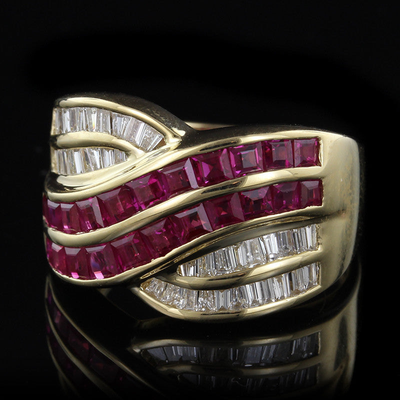 Le Vian 18K Yellow Gold Ruby and Diamond Ring