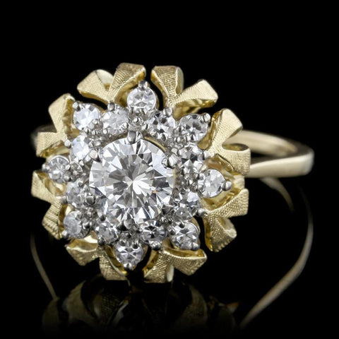 18K Two-tone Gold Diamond Ring
