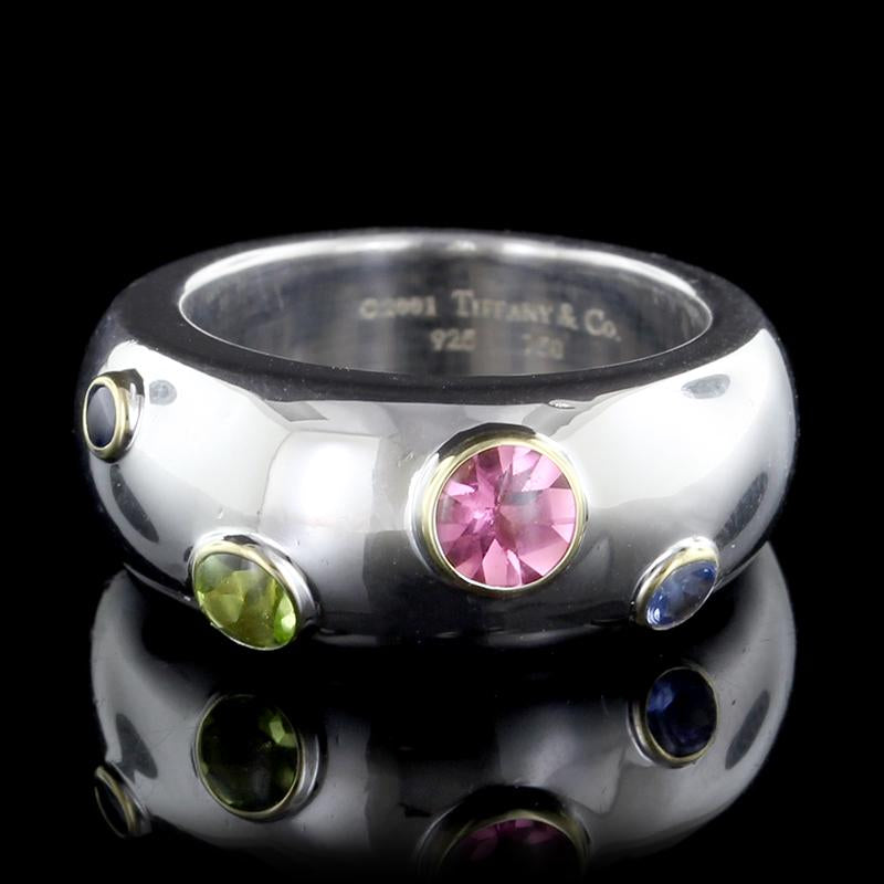 91993871d Tiffany & Co. Sterling Silver, 18K Yellow Gold Peridot, Pink ...