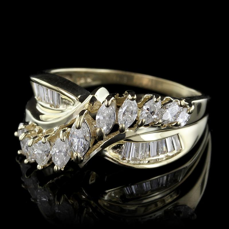 14K Yellow Gold Estate Diamond Ring