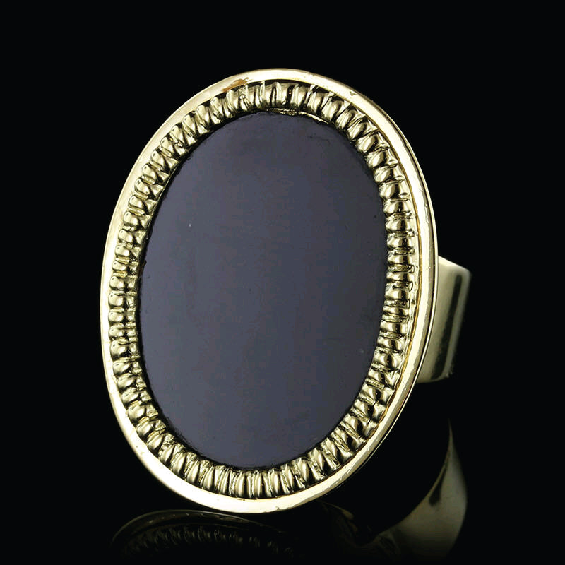Corletto 18K Yellow Gold Onyx Ring