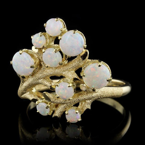18K Yellow Gold Estate Opal Ring